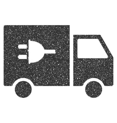 Electric Truck Icon Rubber Stamp vector