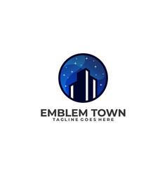 emblem town design template vector image