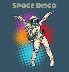 female astronaut dancing disco vector image