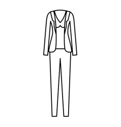 female clothes with pant and blouse and jacket in vector image