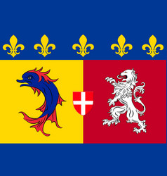 Flag of rhone-alpes is a former administrative vector