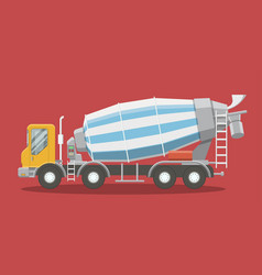 flat asphalt mixer vector image
