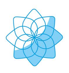 Floral mandala icon vector