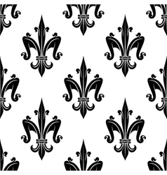 French victorian fleur-de-lis seamless pattern vector image