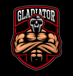 gladiator logo design vector image