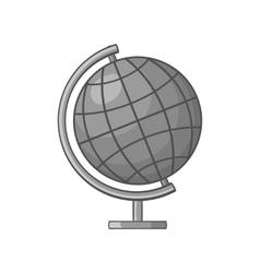 Globe icon black monochrome style vector