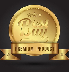 Gold badges vector image