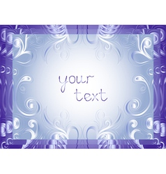 Greeting card in winter motifs vector
