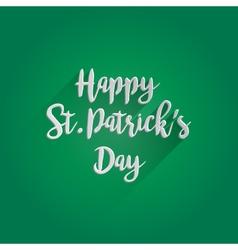 Happy St Patricks Day Lettering Design vector