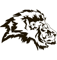 Head Lion Black vector image