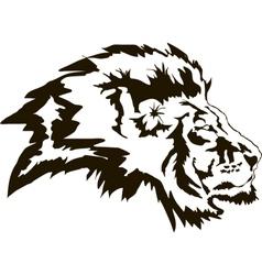 Head Lion Black vector