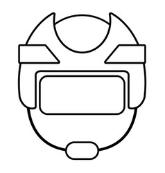 hockey helmet icon outline style vector image