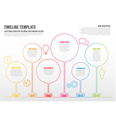 Infographic timeline template vector