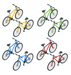 Isometric new bicycle isolated on a white vector