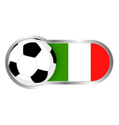 italy soccer icon vector image