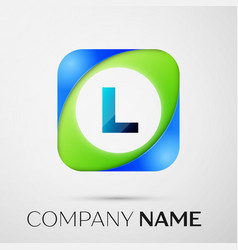 letter l logo symbol in the colorful square vector image