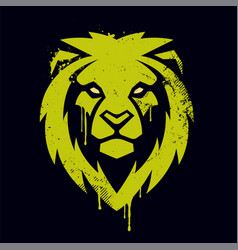 lion head graffiti art vector image