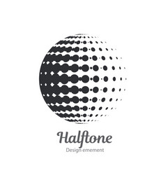 logo halftone design element vector image