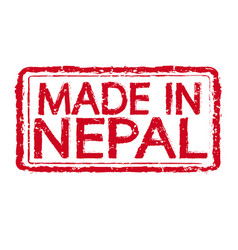 made in nepal stamp text vector image