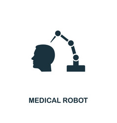 medical robot icon premium style design from vector image