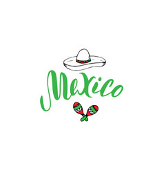 mexico typography text design template tourism vector image