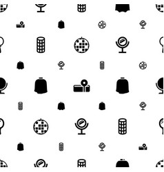 Mirror icons pattern seamless white background vector
