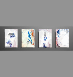 mixture of acrylic paints design template with vector image
