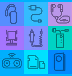 Mobile phone devices icons vector