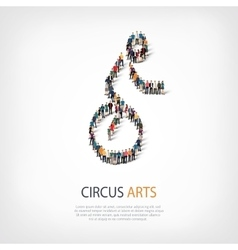 people sports circus arts vector image