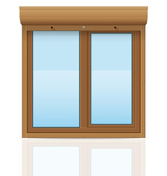 plastic window with rolling shutters 08 vector image