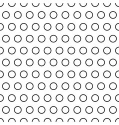 Polka dot ring seamless pattern vector image