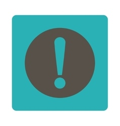 Problem flat grey and cyan colors rounded button vector