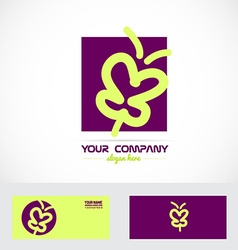 Purple butterfly spa logo vector