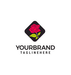 rose logo design concept template vector image