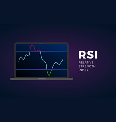 Rsi indicator technical analysis stock exchange vector