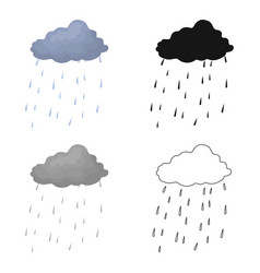 scottish rainy weather icon in cartoon style vector image