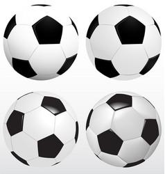 set soccer ball football on white background vector image