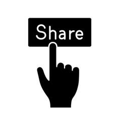 share button glyph icon vector image