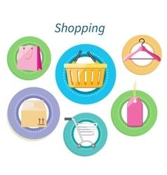 Shopping Consumerism Flat Design Style vector