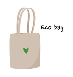 Simple cotton eco bag eco vector
