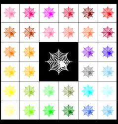 spider on web felt-pen 33 vector image