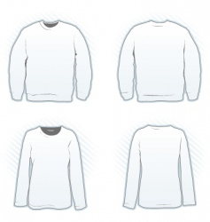 sweatshirt design template set vector image