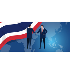 thailand international partnership diplomacy vector image