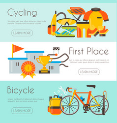 Triathlon web page template cycling competition vector
