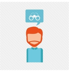 User binoculars design vector image