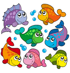 Various cute fishes collection 2 vector