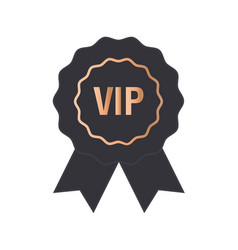 Vip label badge or tag black banner with vector