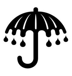 Wet umbrella icon simple style vector