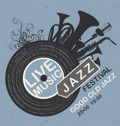 banner for jazz festival live music vector image