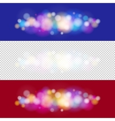 Bright colored lights on purple and red background vector
